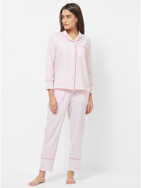 Checked Shirt Pyjama Set