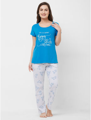 Hippo T-shirt Pyjama Set
