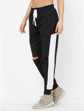 Stylish Knee Slit Track Pants