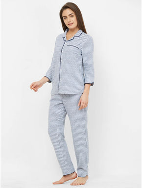 Winter Heart Striped Pyjama Set