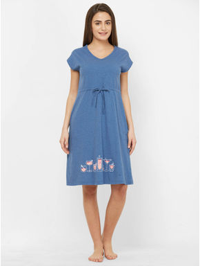 Cocktail Embroidered Sleep Dress
