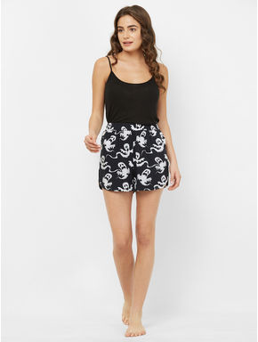 Spooky Ghost Print Shorts