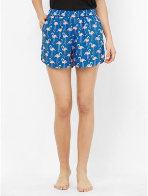 Cute Flamingo Print Shorts