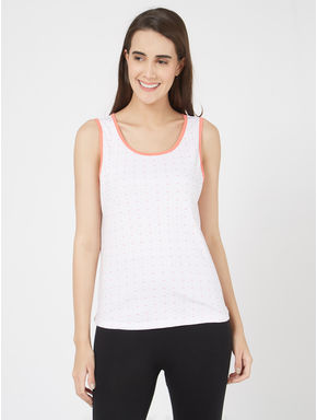 Honeybee Print Ribbed Tank Top