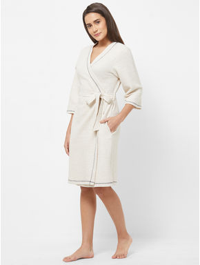 Solid Textured Bath Robe