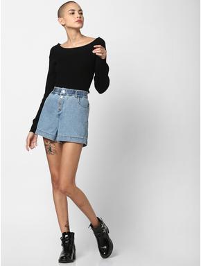 Black Ribbed Pullover