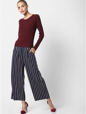 Burgundy Ribbed Pullover