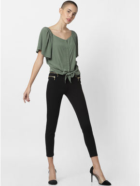 Dark Green Front Bow Top