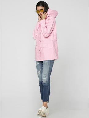Pink Hooded Raincoat