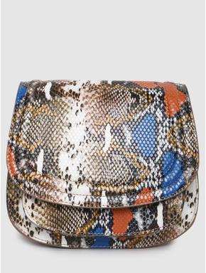 Blue Animal Print Crossbody Bag