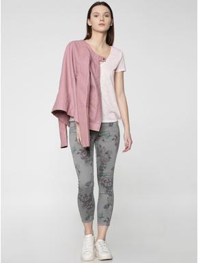 Light Pink V Neck T-Shirt