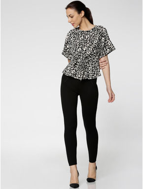 Black All Over Print Top