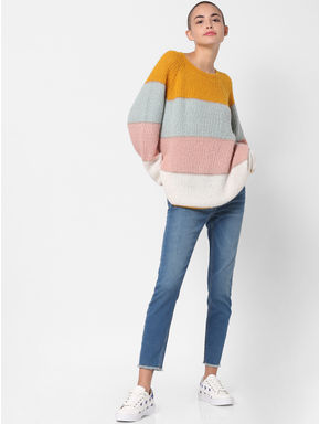 Yellow Colourblocked Pullover