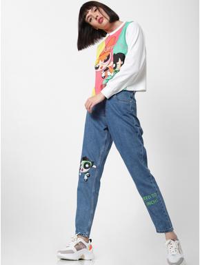 x The Powerpuff Girls Graphic Print Sweatshirt