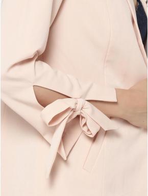 Light Pink Bow Detail Blazer