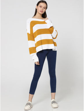 Yellow Striped Pullover