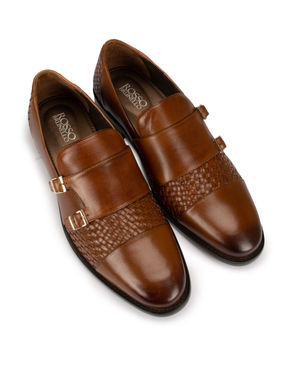 Tan Leather Monk Strap
