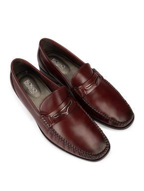Burgundy Patent Loafers