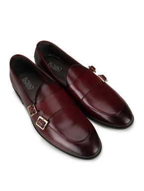 Burgundy Plain Loafers