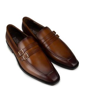 Tan Plain Loafers