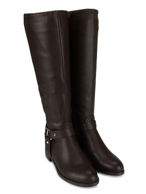 Coffee Calf Length Boots