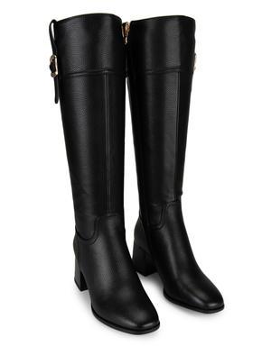 Black Calf Length Boots