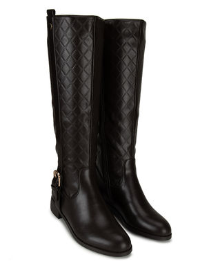 Brown Calf Length Boots