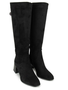 Black Knee-High Suede Boots