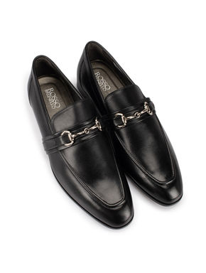 Buckle Leather Loafers