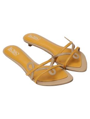 Beige Kitten Heel Sandals
