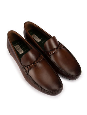 Brown Plain Loafers