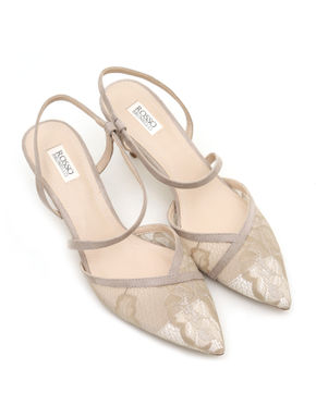 Pointed toe net Sandals