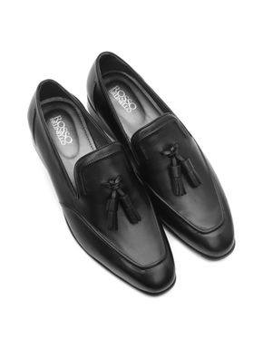 Plain Loafers with Leather Tassels
