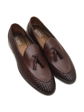 WEAVE LOAFERS WITH TASSELS