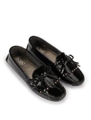 Black Fringe Loafers