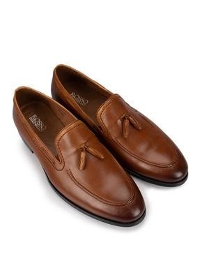 Signature Brown Tassel Loafers