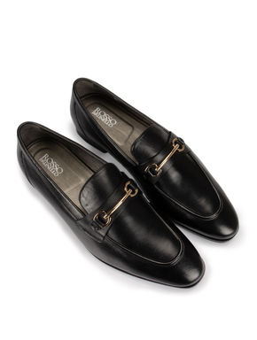Black Buckled Loafers
