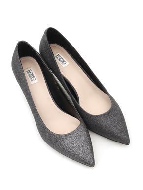Shimmery Silver Heels