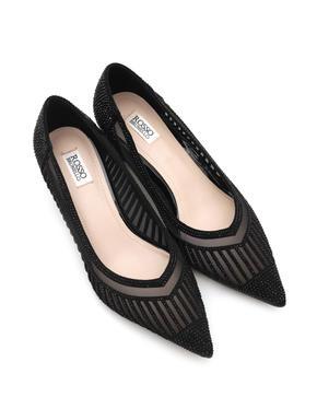 Net Pointed Toe Heels