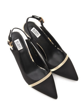 Black Heels With Golden Stripe