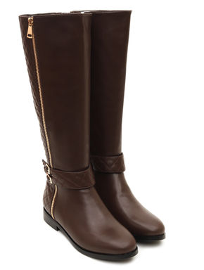 Knee Length Buckled Boots
