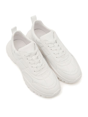Bulky Plain White Sneakers