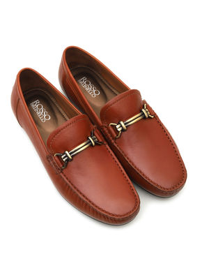 Plain Tan Moccasins