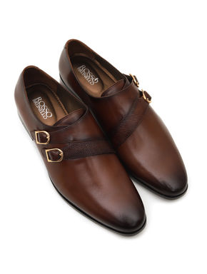 Plain Coffee Monk Strap
