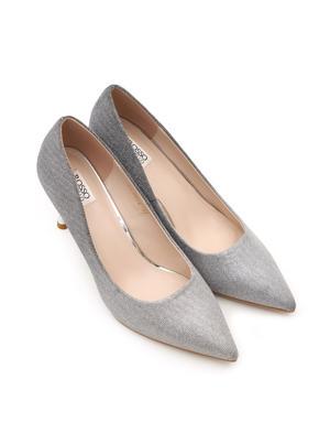 Silver Heels Pumps