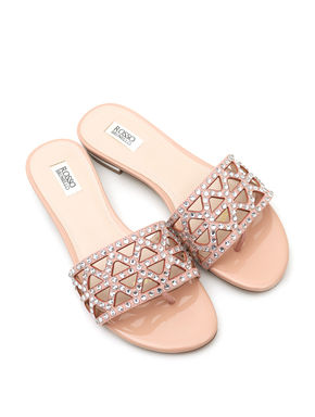 Studded Broad Strap Sandals