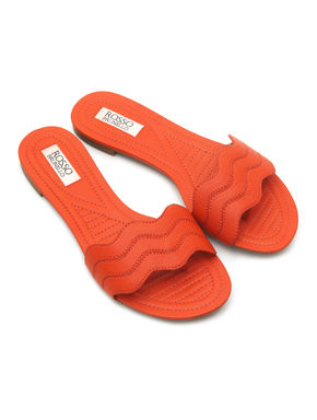 Orange Slip-Ons
