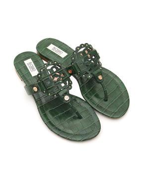 Croco Leather Flats