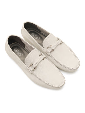 Embossed Leather Moccasin