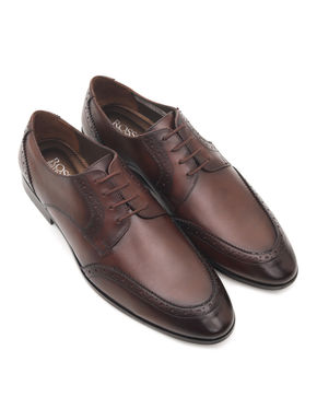 Burnished Leather Oxford Shoes